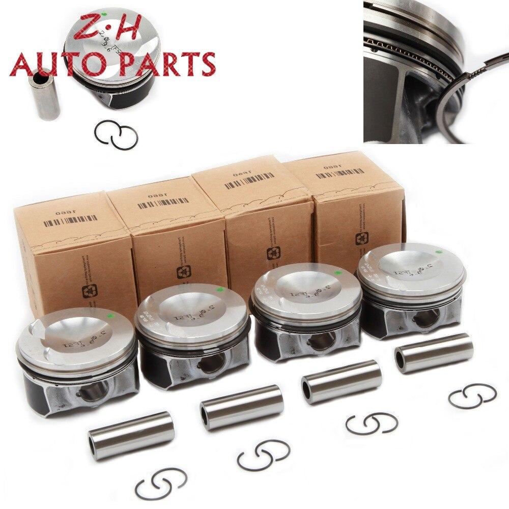 Nowy EA888 ATG zmodyfikowany tłok silnika i zestaw pierścieni tłokowych 06H 107 065 DD dla Audi A4 Q5 VW Passat Tiguan 2.0TSI 06J198151B Pin 21mm