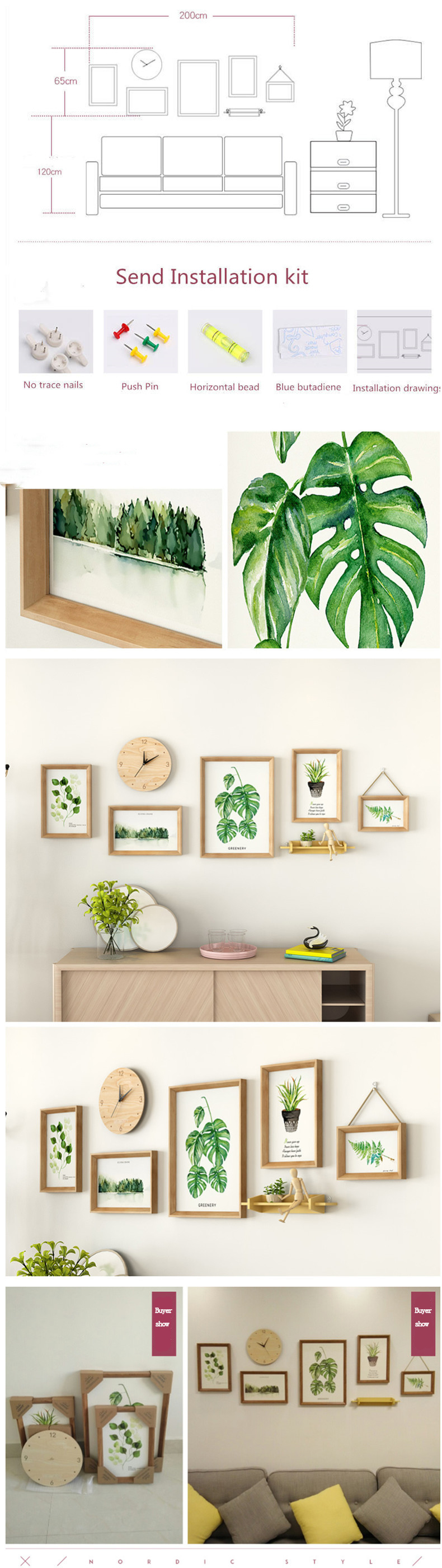 Green Garden 5PC Photo Frame Set - Canvas Paintings Under $1,000