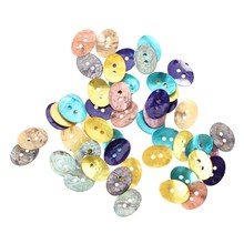 50 PCS 15 x 11 mm Pearl Mussels Button New TOP(China)