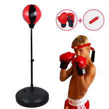 Punching-Bag Gloves Adjustable-Stand Gifting Kids for Boxing-Set with Hand-Pump Top Idea