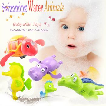 1pc losowy kolor zabawki do kąpieli nowe zwierzę żółw delfin Baby Shower Baby Swim zagraj w zabawki akcesoria do basenów Baby Play w wodzie tanie i dobre opinie LAIMALA CN (pochodzenie) Z tworzywa sztucznego Baby bath toy Żółw NOT EAT Mechaniczna dabbling zabawki Unisex 13-24 miesięcy