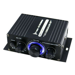 Amplifier Music-Player Audio Mini with Led-Lights Subwoofer FM SD HIFI 2CH for Car Home