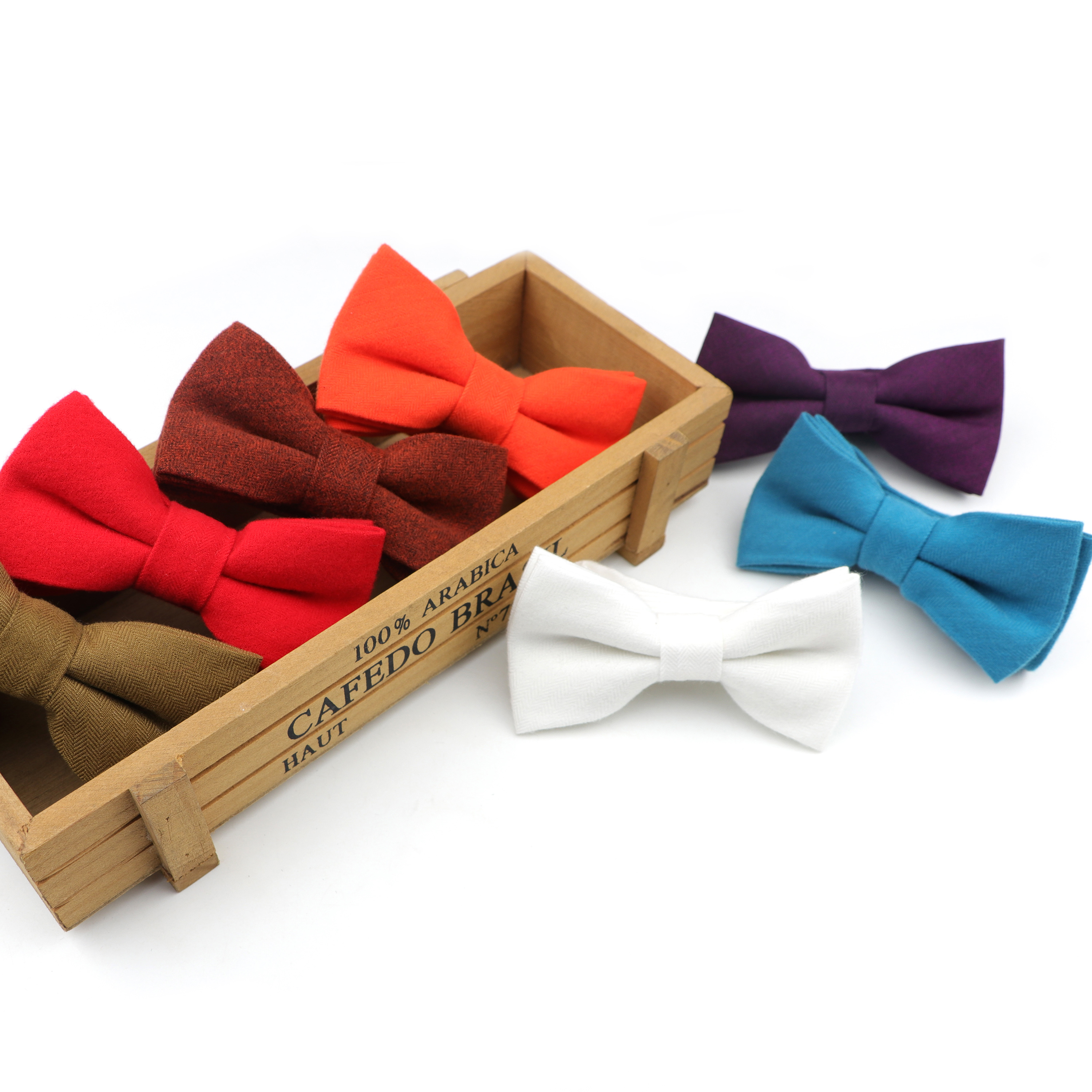 Cotton Winter Bow Ties For Children Soft Fashion Formal  Colorful Butterfly  Cravat  Dinner Party Wedding Accessories Gift