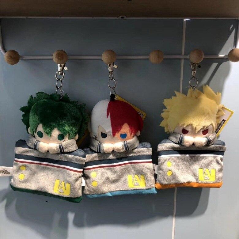 Anime My Hero Academia Izuku Katsuki Shouto Plush Pendant Toy Coin Purse Card Bag Keychain Soft Stuffed Dolls Pendant Gift 15cm