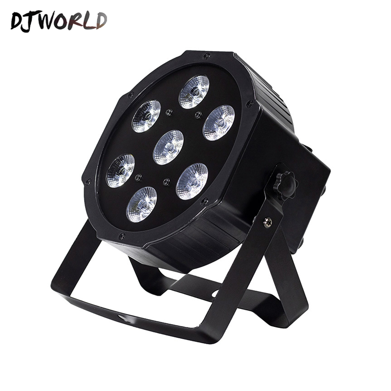 Djworld LED Par 7x18W RGBWA+UVStage Light Profession DMX512 Effect Lighting Power For New Year Clubs Home Entertainment Dj Disco