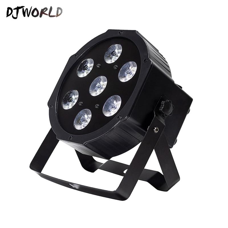 Djworld LED Par 7x18W RGBWA+UVStage Light Profession DMX512 Effect Lighting Power For New Year Clubs Home Entertainment Dj Disco