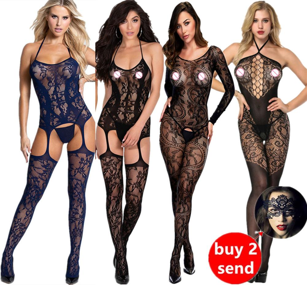 Sexy Bodysuit Transparent Erotic Transparent Open Crotch Bodystocking Body Suits Crotchless Bodysuit Sleepwear Tights