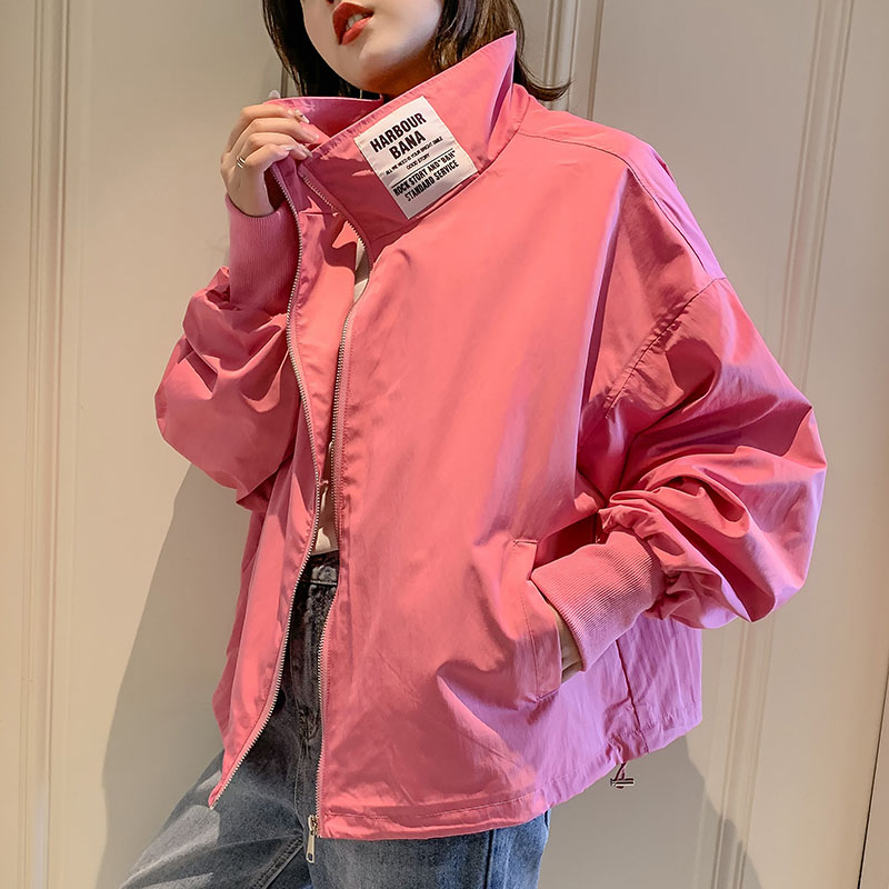 Autumn Windbreaker women   Jackets   and Coats Long Sleeve   Basic     Jackets   Bomber   Jacket   Baseball Large Size Women's   Jackets   Outwear