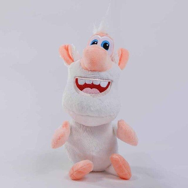 25cm Russian Anime Cartoon TV Booba Buba Plush Toy Doll Stuffed Animals Small White Pig Plush Kids Toys