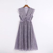 2020 Summer New Sleeveless Print Pleated zaraing women Dress
