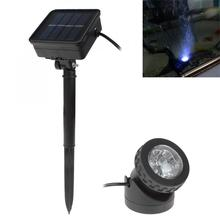 цена на Solar Landscape Lights Waterproof Solar Powered LED Spotlight Spot Light Lamp Garden Pool Pond Outdoor Solar Lamps Solar Light