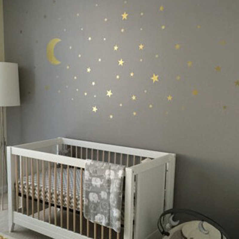 New Baby Nursery Bedroom Stars Wall Sticker For Kids Room Home Decoration  Cartoon Starry Wall Stickers