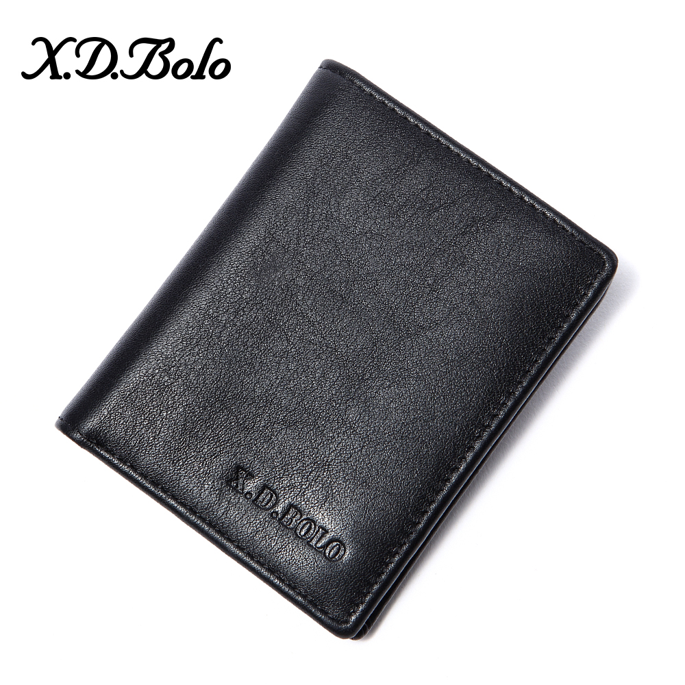 XDBOLO 2020 New Men Wallets Genuine Leather Wallets For Credit Card Holder Zip Small Wallet Man Leather Wallet Short Coin Purse