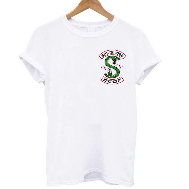 O-neck T-shirt Riverdale Women's Sleeveless Casual South Side Snake T Shirt Tee