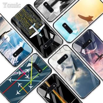 Funda de teléfono de vidrio templado para Samsung Galaxy S10 S10e S9 S8 S10 Plus Note 9 A50 A30 Soft Edge