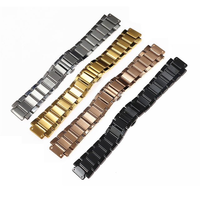 Watch accessories for HUBLOT classic fusion big bang stainless steel belt men and women bulge 19mm