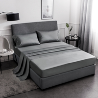 Home Textile 4pcs Nordic Solid Beding Sets Luxury Bedding Comforter Bedding Sets Simple American Solid Cotton Bedding FF80S