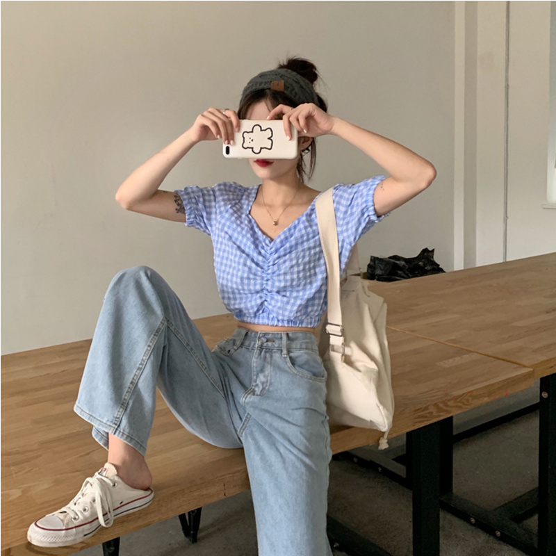 Women Jeans Show Thin Casual Pants Jean Female Trousers Wide Denim Skinny Pants All-match Simple Full-length