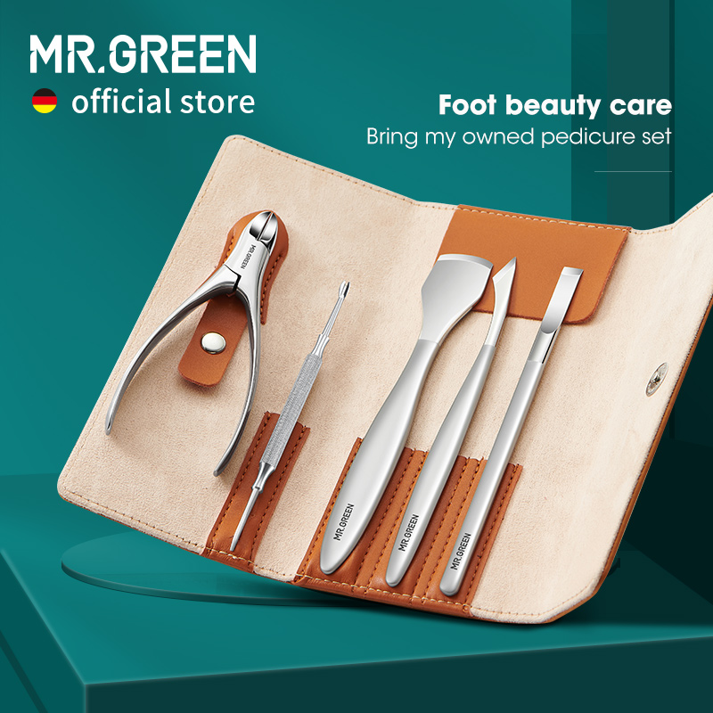 MR.GREEN Pedicure Knife Set Professional Ingrown Toenail Foot Care Tools Stainless Steel Nail Nippers Clipper Remover Kit