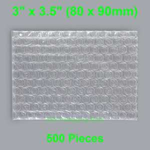"500 Pieces 3"" x 3.5"" (80 x 90mm) Clear Bubble Bags Small Size Plastic Packing Envelopes"
