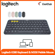 Logitech K380  Wireless Keyboard Pebble Mice Combo Slim and Quiet Light Clicking Silent Portable Connect Easily