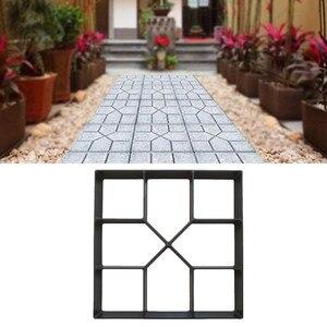 Бетонные формы для садового пола, DIY формы для мощения дома, сада, траектории, ручной цемент, кирпич, Ступенчатая дорога, камень, дорожный инс...