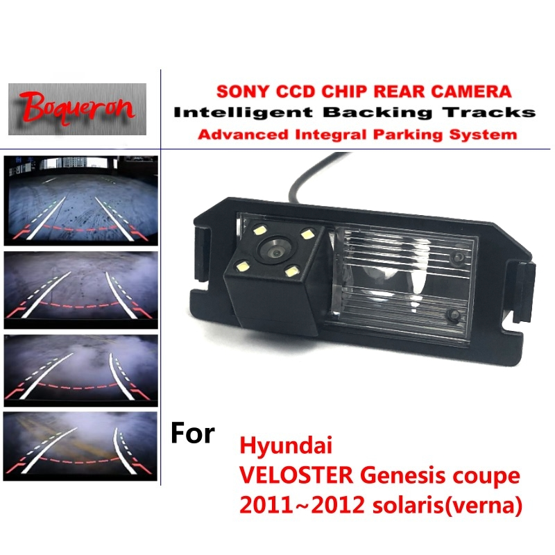 for Hyundai VELOSTER Genesis coupe solaris CCD Car Backup Parking Camera Intelligent Tracks Dynamic Guidance Rear