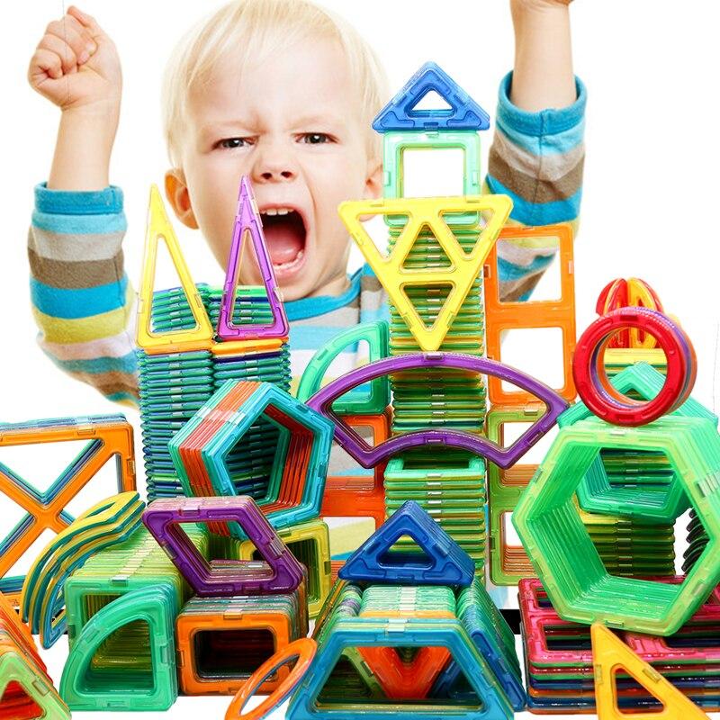 67-135 adet tasarımcı manyetik bloklar büyük boy DIY mıknatıs oyuncaklar çekme manyetik yapı taşları monte oyuncaklar çocuk hediyeler için