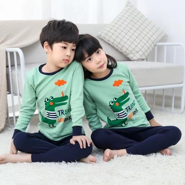 Pijamas de los niños de Otoño de niñas niños 1