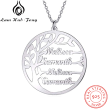 купить Personalized Family Tree Necklace for Mom Custom Name Charm Necklace for Women 925 Sterling Silver Fine Jewelry (Lam Hub Fong) по цене 923.31 рублей