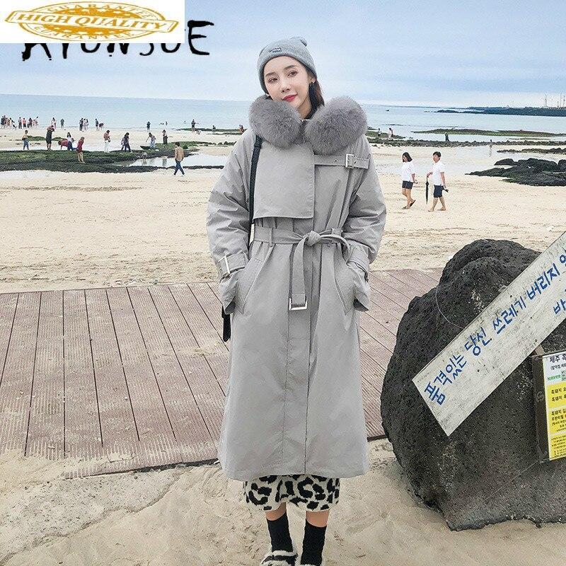 Duck Down Jacket Women Clothes 2019 Winter Coat Women Fox Fur Collar Korean Fashion Puffer Jacket Women Warm Parka 8931 YY2048