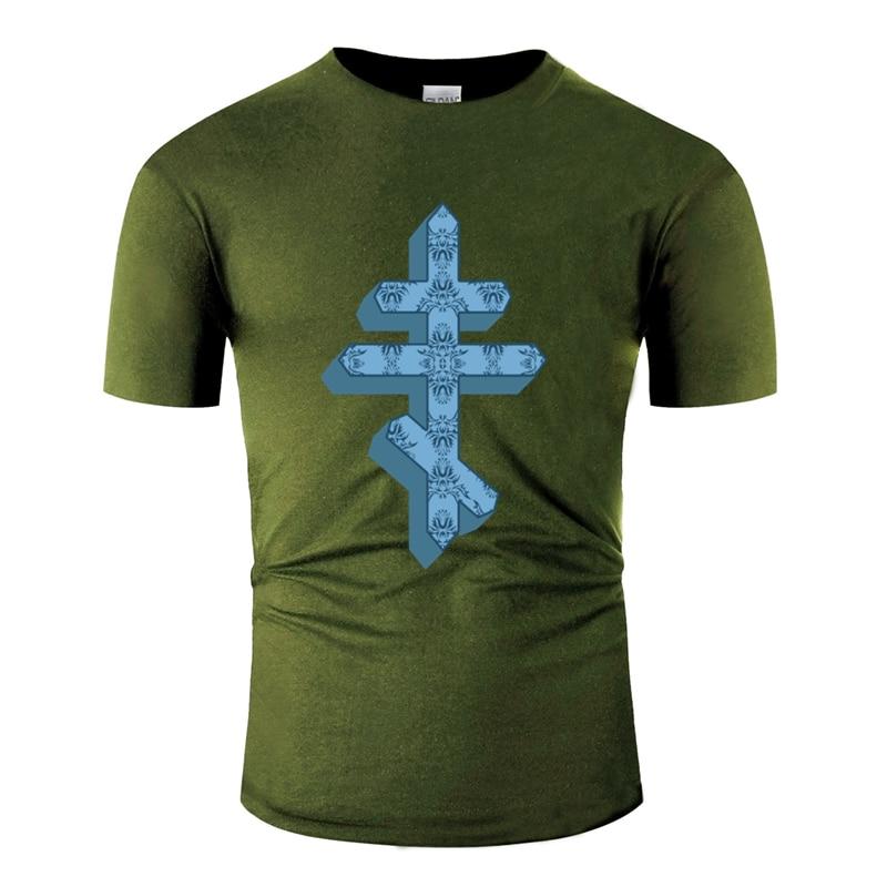 Unisex Ortodoks Easter Cross Alkitab Tuhan Hadiah Rusia Tshirt Pria Dicetak Dasar Pria T-shirt Pria Baru T Shirt PLUS ukuran