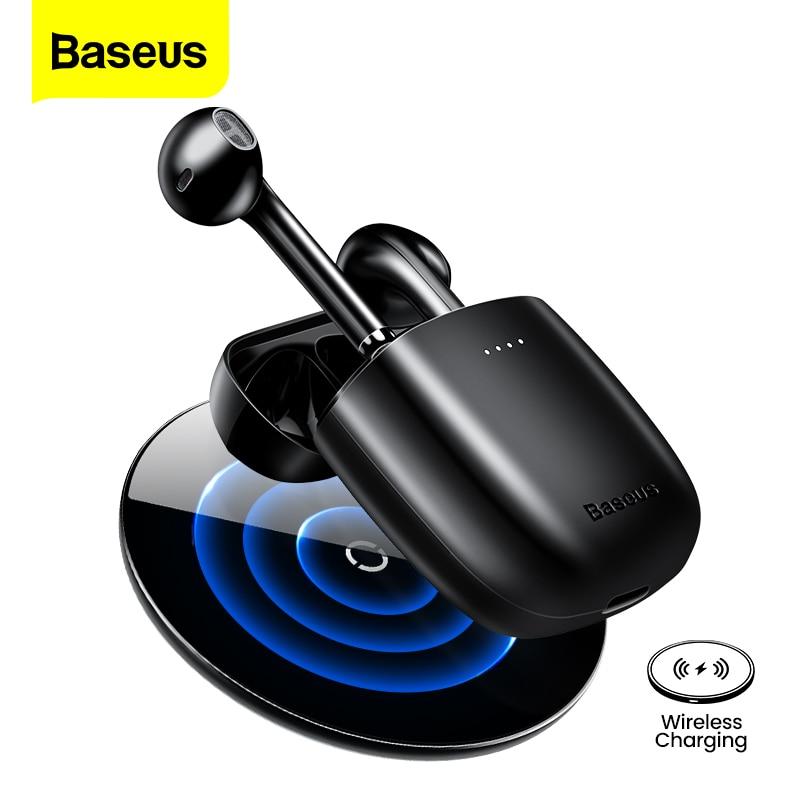 Baseus W04 Pro Наушники-вкладыши TWS Bluetooth наушники 5,0 настоящие беспроводные наушники HD стерео наушники для Xiaomi, Huawei, гарнитура громкой связи, Спорт...
