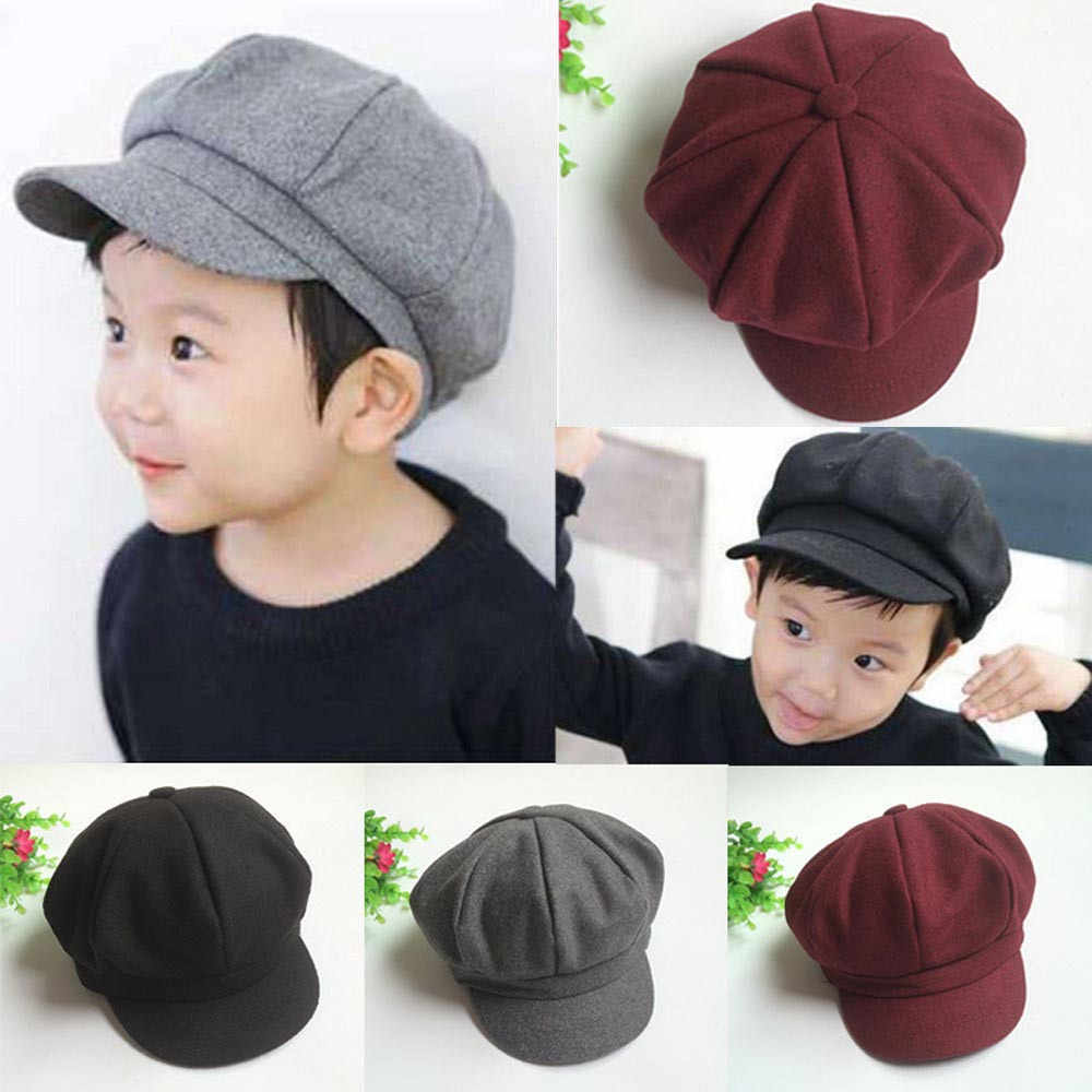 Baby Kids Toddler Infant Dome Beret Cap Headwear Octagonal Hat Beret Retro Cap baby hat for girls boys шапка 2019 New arrival