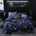 Набор постельного белья с геометрическим принтом в виде звездочек и фруктов  пододеяльник  простыня и наволочка для взрослых и детей  61001