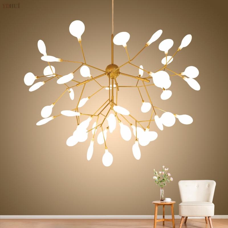 LED Tree branch chandelier Kitchen Restaurant Bar heracleum lustre salon Lighting Art Decor luminaire hanging light fixtures