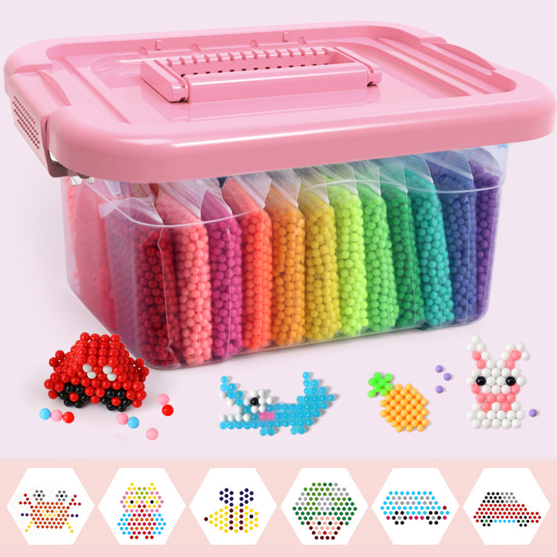 DIY Water Beads Set Toys for Children Montessori Education Brain Magic Box Kids Handmade Toys for Baby Girls Boys 3 5 7 8 Years(China)