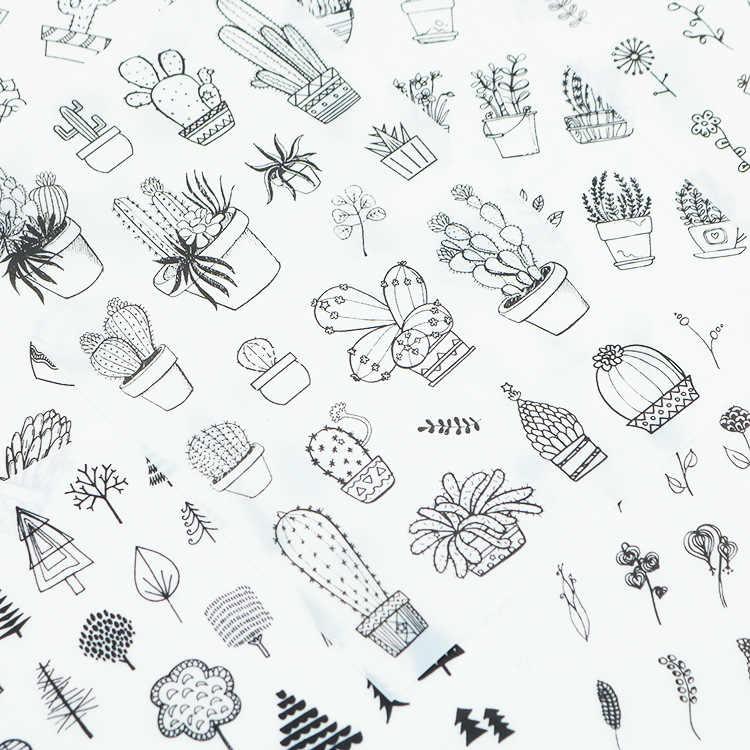 6 шт./упак. Любовь Путешествия еда кактус декоративное растение канцелярские наклейки Скрапбукинг DIY Дневник наклейкой