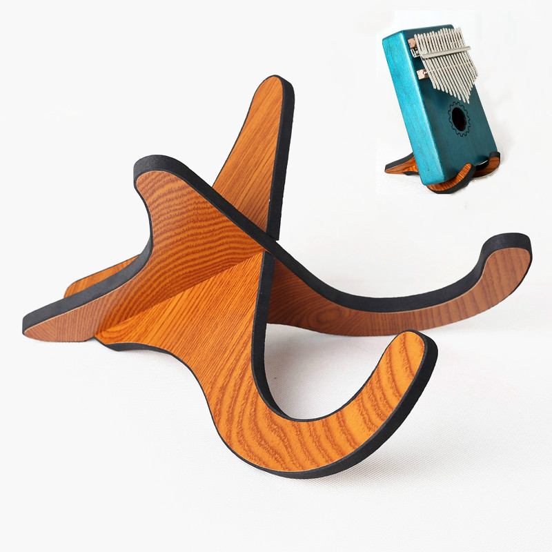 Kalimba Support  Bracket Stand Wooden For 10 17 Keys Kalimba Thumb Piano Musical Instrument Display Accessories Parts
