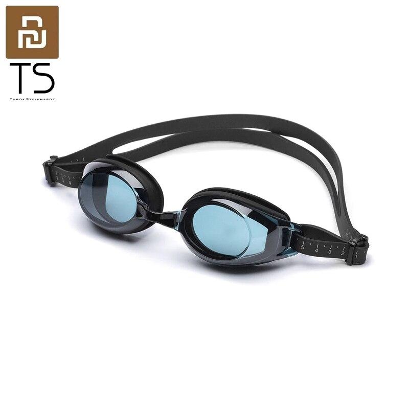 Очки для плавания Youpin TS для взрослых, незапотевающие Регулируемые очки высокого разрешения, 3D-дизайн, 3 размера, переносица для женщин и мужч...