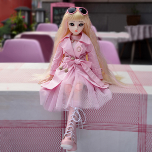 60CM BJD Doll Fashion Girl SD Dolls 18 Ball Jointed Doll With Full Outfits Hat Wig Clothes Shoes Makeup Best Gifts For Girls(China)
