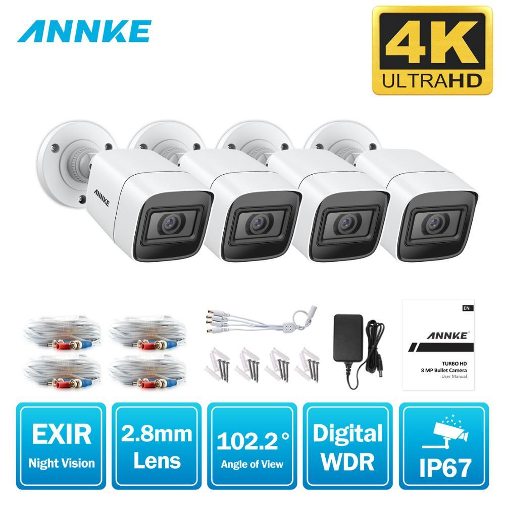 ANNKE 4X 8X FHD 4K CCTV TVI Camera 8MP Outdoor Waterproof Bullet Security Surveillance System EXIR Night Vision Email Alert Kit