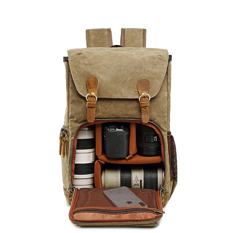 Crossten  Collection NG A5290 A5280 Laptop Backpack SLR Camera Bag Canvas Photo Bag