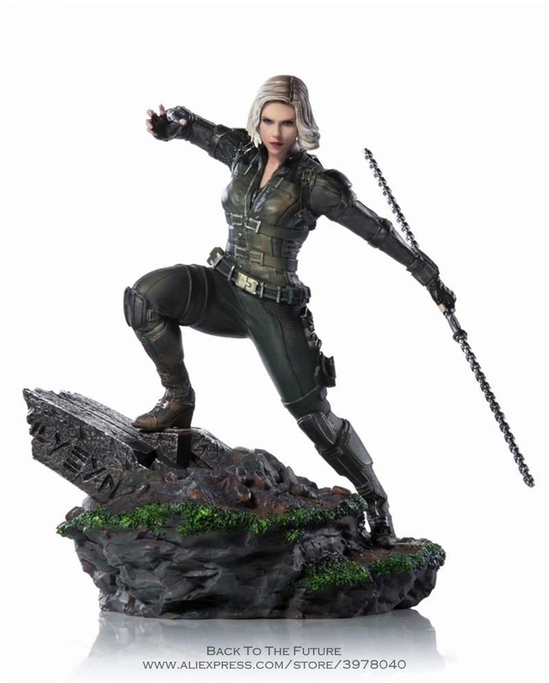 Disney Marvel Avengers Black Widow 18cm Action Figure Posture Model Anime Decoration Collection Figurine Toys model for children