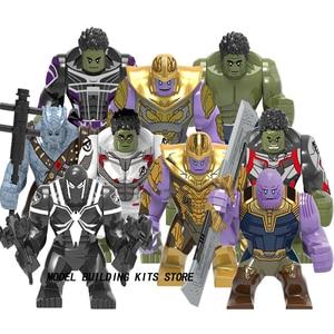 Marvel Avengers Super Heroes Anti Venom Movie Thanos Cull Obsidian Batman Hulk Buster Bane Figure Building Blocks Toys(China)
