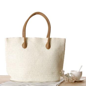 Women Handbag Summer Beach Bag Rattan Woven Handmade Knitted Straw Large Capacity Totes Women Shoulder Bag Bohemia 2019 New 5