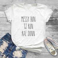 Chignon salissant T.J. Run Rae Dunn t-shirt Style Harajuku chignon désordonné Rae Dunn été manches courtes t-shirt