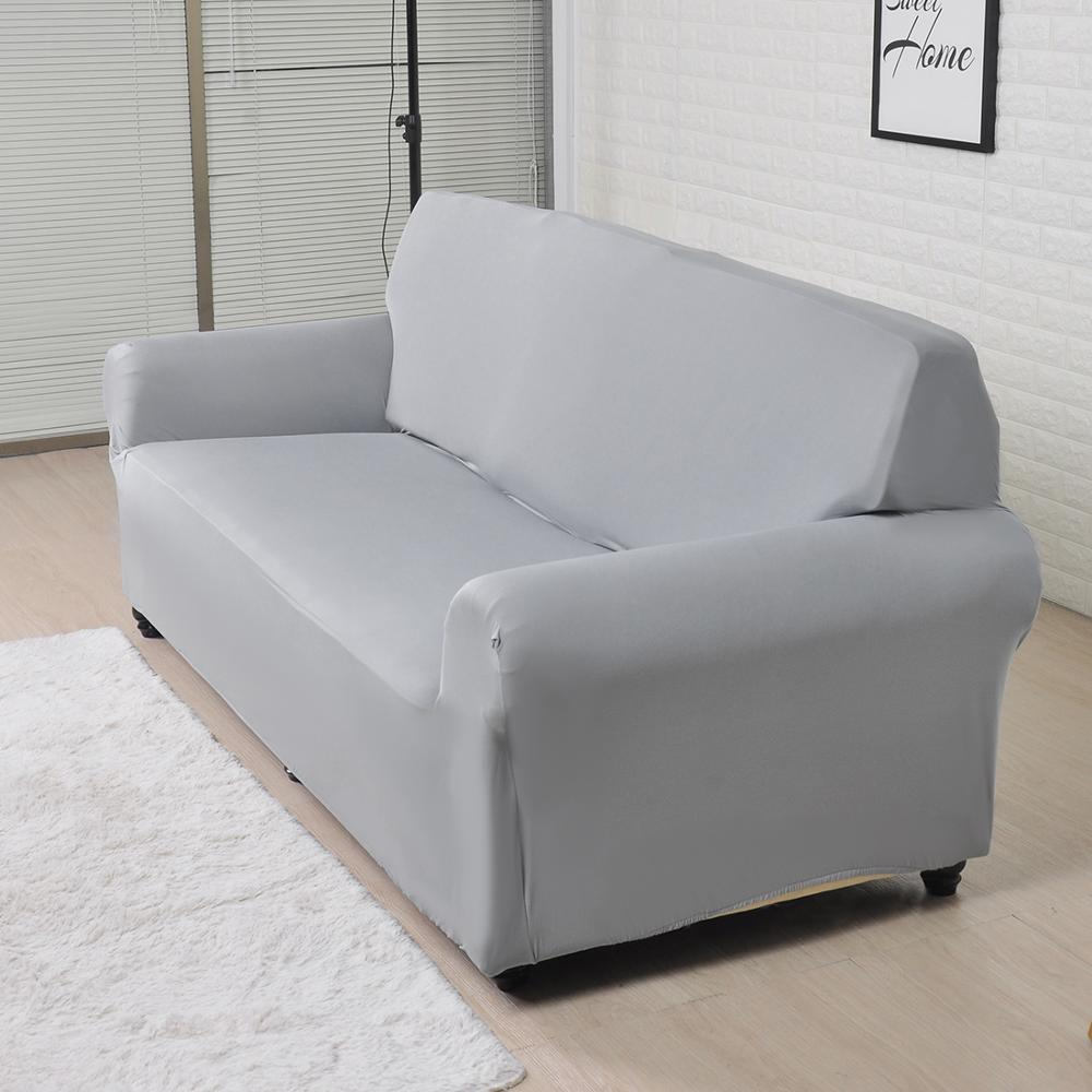 Solid Color Sofa Cover Big Elasticity Stretch Couch Cover Loveseat Sofa Corner Sofa Towel Furniture Cover 1/2/3/4 Seater 3