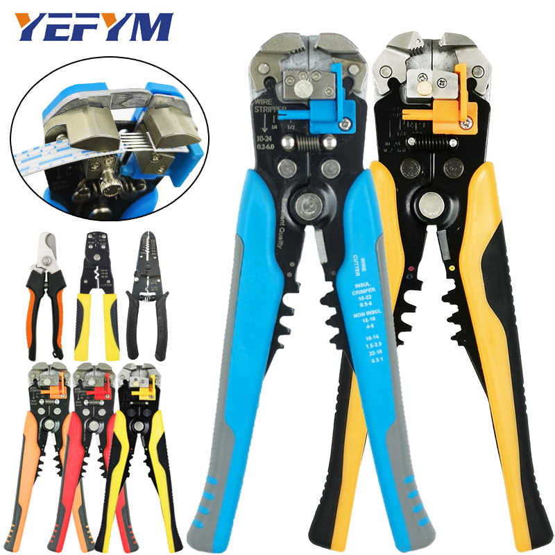 Multi tools pliers stripper cutter cable wire capability 0.25-6mm2 HS-D1 YE-1 brand crimper acutomatic electrical repair tools