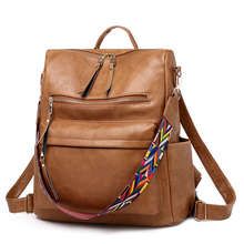 New Multifunctional Women Backpack High Quality Vintage PU L